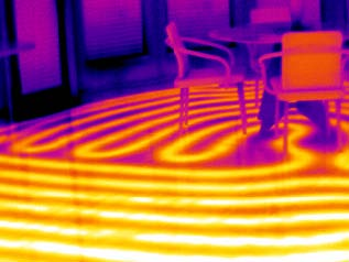 thermal images of radiant heated floor