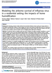 Effects of Humidification on Influenza Virus Survival in Rooms Conditioned with Radiant Heating and Forced Air