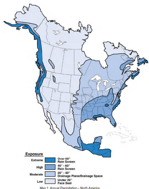 Thermal and hydro-thermal regions of North America