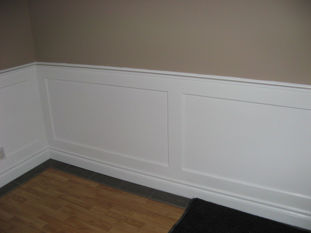 radiant heated wall - wainscoting