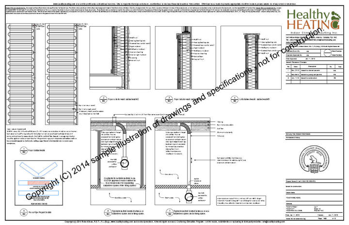 sample set  1 design  drawings and specifications for residential hvac systems
