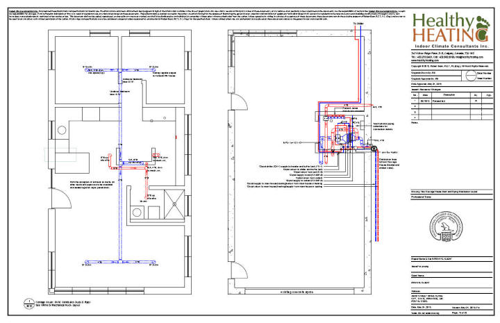 Sample set #4 design, drawings and specifications for residential HVAC  systems | Hvac Drawing Review |  | Healthy Heating