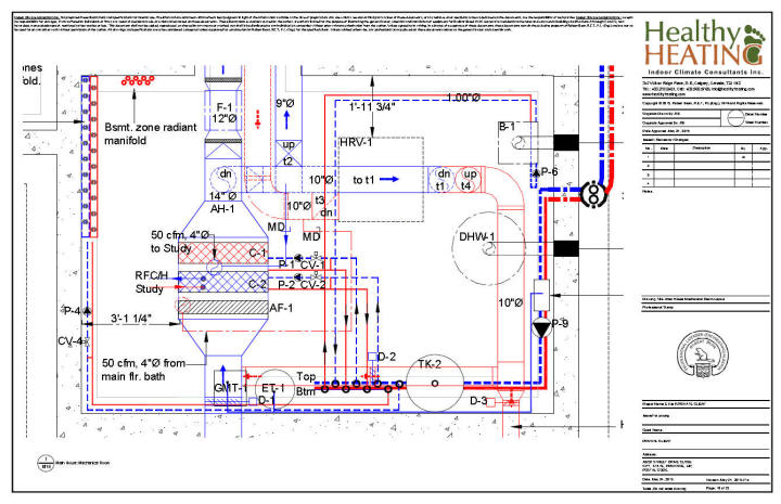 Sample set #4 design, drawings and specifications for residential HVAC  systems | Hvac Drawing Samples |  | Healthy Heating