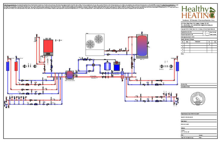 Sample set #4 design, drawings and specifications for residential HVAC  systems | Hvac Piping Drawing |  | Healthy Heating