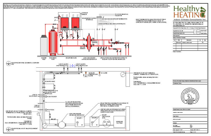 HVAC :: Sample set #2 HVAC Drawings and Specifications for Multi-Purpose  Industrial Building | Hvac Piping Drawing |  | Healthy Heating